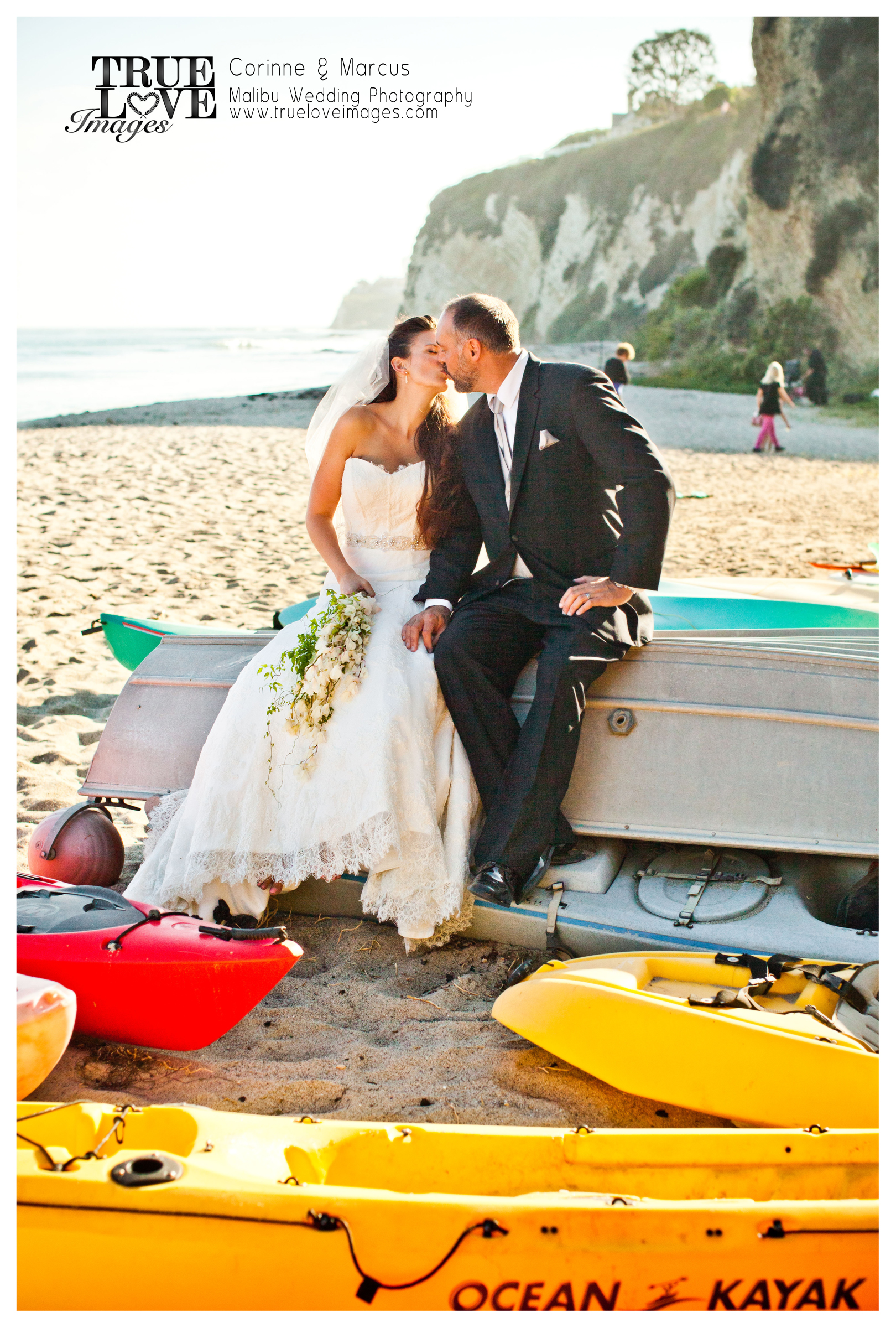 Marcus & Carinne Sumner Newly Weds in Malibu at Little Dume